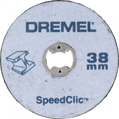 DREMEL® EZ SpeedClic: Н-Р НАС-ОК ДЛЯ РЕЗКИ ПО МЕ + ДЕРЖАТЕЛЬ SC406 (38ММ), 2 шт